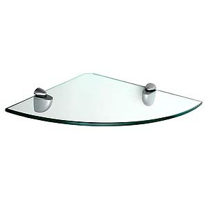 "Review Floating Corner Shelf - Clear Glass (Clear) (.31"" H x By Dolle by Dolle"
