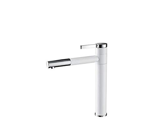 Faucet Basin Taps White Faucet Painted Bathroom Basin Faucet Heightening 360 Spout Swivel Vessel Sink Lavatory Water Mixer Tap