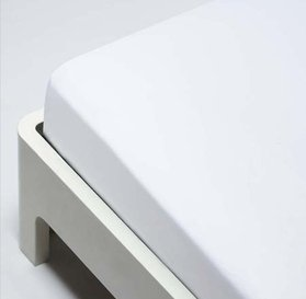 Fitted Hospital Bed Bottom Sheet For Twin Size Bed White, Soft Cotton  Blend, Deep