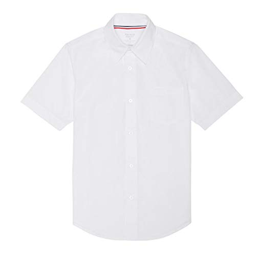 (French Toast School Uniform Boys Short Sleeve Classic Dress Shirt, White, 2T)