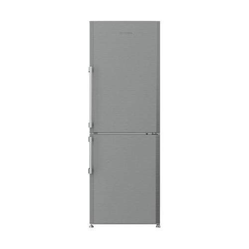 "Blomberg BRFB1044SS 24"" Bottom Freezer Refrigerator with 12 cu. ft. Capacity Hygiene+ Antibacterial Seal NoFrost Technology Duocycle and LED Lighting in Stainless"