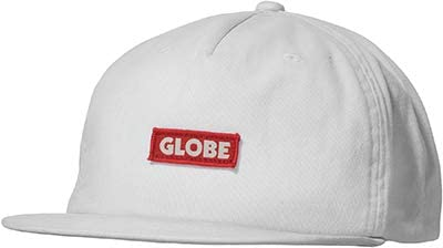 Globe Bar Cap Gorra, Hombre, White, Talla Única: Amazon.es: Ropa y ...