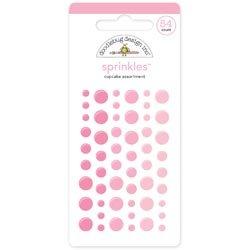 Doodlebug Design Cupcake (Bulk Buy: Doodlebug Designs (3-Pack) Sprinkles Self Adhesive Glossy Enamel Embellishments Cupcake Dots 54/Pkg MONOS-4004)