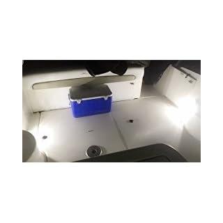 3 inch 6 LED S.S.304 12V Round Marine Navigation Light Chrome Boat Polished Stainless LED Transom Mount Stern Anchor Lights Flush Mount,IP67 Waterproof