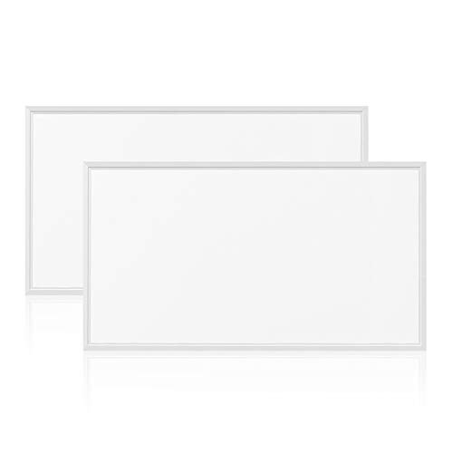 EVE UL LED Panel 2-PACK Light 2x4ft 50W 4000K 6000 lumens, DLC V4.2 Premium UL cUL Qualified and Lighting Facts, Eligible for Nationwide Rebate Programs Flat Celling Led Sheet Panels Lighting Board