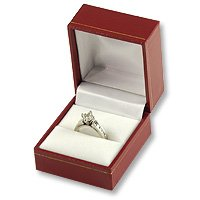 Classic Leatherette Ring Gift Box