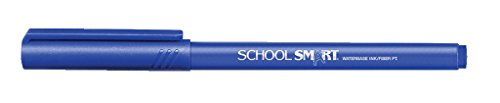 School Smart Felt Tip Pens - Pack of 12 - Blue
