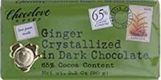 product image for Chocolove Xoxo Dark Chocolate Bar Crystallized Ginger 3.2 Oz -Pack of 12 by Chocolove