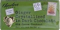 Chocolove Xoxo Dark Chocolate Bar Crystallized Ginger 3.2 Oz -Pack of 12 by Chocolove - Chocolove Chocolate Crystallized Ginger