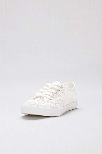 David's Bridal Crochet Lace Sneakers Style Carrson, White, 11