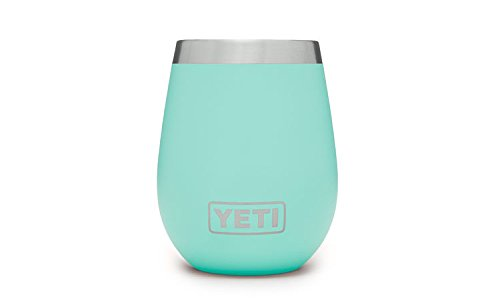 YETI Wine Rambler 10 oz Stainless Steel Vacuum Insulated Tumbler, Seafoam