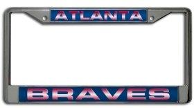 - Rico Industries Atlanta Braves Laser Cut Chrome License Plate Frame