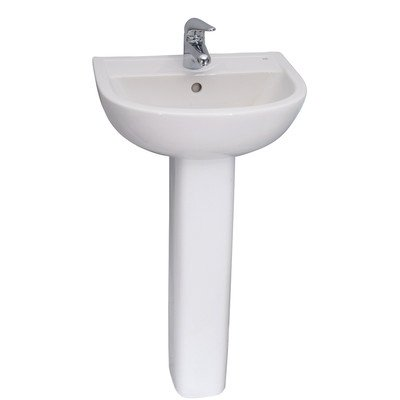 Basin Pedestal 3 Hole (Barclay 3-531WH Compact 450 Pedestal Lavatory with 1 Hole)