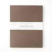 GARTNER Heavyweight Presentation Folders 10-Pack - Brown 67312