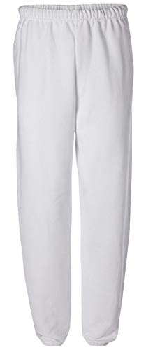 Adult Soft and Cozy Sweatpants,White,Medium