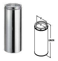 - Chimney 70620 6 in. x 48 in. Duratech Factory-Built Chimney Length- 430-alloy Inner Line