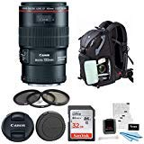 Canon EF 100mm f/2.8L is USM Macro Lens with 16GB SD Card Advanced Photo and Travel Bundle