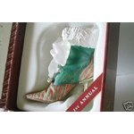 Just the Right Shoe Christmas Eve Ball Boot Resign Shoe Mint in Box 2001 By Raines