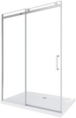 Laneri - Mampara de ducha corredera de lujo, reversible, 118 - 120,5 cm: Amazon.es: Bricolaje y herramientas