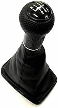 Ormax Gear Knob & Shift Boot (Black Frame & Black Stitching Boot) for Golf MK4 / Jetta/Bora MK4