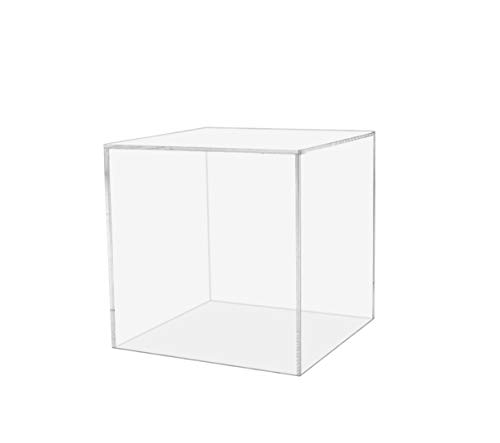 Marketing Holders 5 Sided Acrylic Display Cube Collectible Pedestal Stand 4