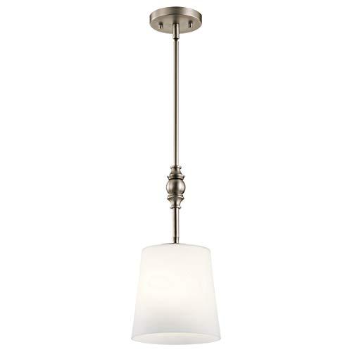 Mini Pendants 1 Light Fixtures with Antique Pewter Finish Steel Material Medium Bulb 8