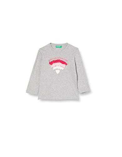 United Colors of Benetton T-shirt voor meisjes – grijs – 82