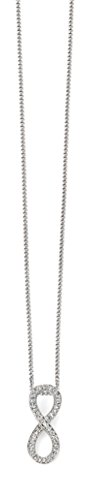 Elements - Collier - Or blanc - Diamant - 46.0 cm - GP998