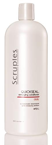 Scruples Quickseal Detangling Conditioner (1000 ml / 33.8 oz) | Shiny Hair Conditioner for Men & Women | Restores pH Balance, Untangles & Seals Hair | Suitable for All Hair Types (Pack of 1) (Best Detangling Conditioner For Long Hair)