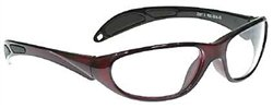 Color-Guard X-Ray Radiation Protection Glasses, 0.75mm Pb Equivalency Lens, Red by Colortrieve