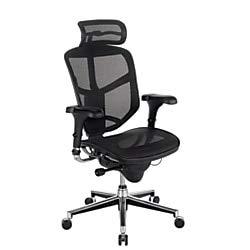 (WorkPro Quantum 9000 Series Ergonomic Mesh High-Back Chair with Headrest, Black)