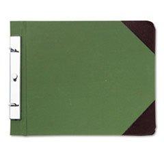 Canvas Sectional Post Binder, 11 x 8-1/2, 4-1/4 Center, Green