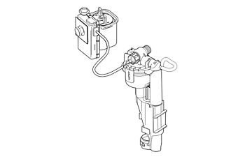 Delta EP75944 Brevard Complete Flush-Fill Actuator, N/A by Delta