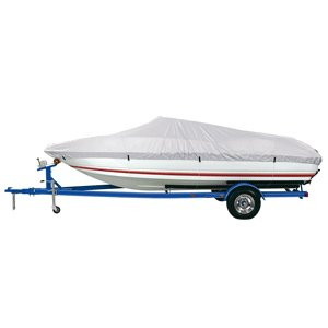 Cover Boat Reflective Polyester (Dallas Manufacturing Co. Reflective Polyester Boat Cover D- 17'-19' V-Hull & Runabouts - Beam Width to 96