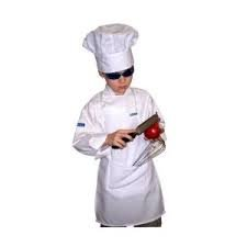 [CHEFSKIN KIDS CHILDREN SET: CHEF JACKET AND ADJUSTABLE CHEF HAT WHITE, GREAT GIFT (XXL ( 10-12 year] (Chef Costumes For Kids)