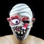 Halloween Costume Make-up Fancy Props Horrible Rotten Eye Mummy Mask ()
