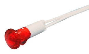 LED 13, 5 mm 230 VAC 12.858/230/R (rot) Electro dh