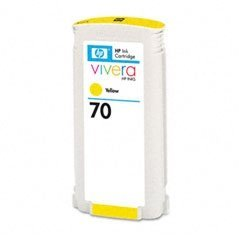 HP C9454A HP 70 Ink Cartridge, 130ml, Yellow