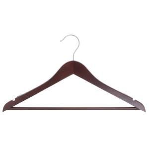 17'' Mahogany Wooden Hanger, Suit, 100 per set