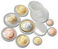 Safe 80 cápsulas para monedas 10 x set completo de monedas euro en ...