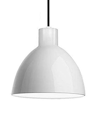 Pendant in White with Heavy Plated Dome shade and Internal, White Acrylic ()