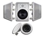 Acoustic Audio HT-65 5.1 Home Theater Speaker System (White) by Acoustic Audio by Goldwood
