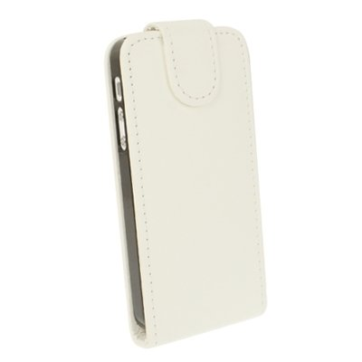 Mxnet Textura suave arriba y abajo del caso de cuero abierto para iPhone 5 & 5s & SE & SE Fundas ( Color : Pink ) White