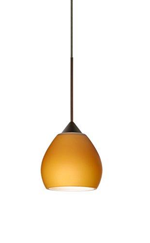 Besa Lighting 1XT-560580-LED Tay Tay 1 Light LED Cord-Hung Mini Pendant with Amb, Bronze ()