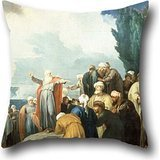 - Oil Painting Jacob De Wit - Moses Elects The Council Of Seventy Elders Pillowcover 20 X 20 Inch / 50 By 50 Cm For Floor,couch,adults,lover,bar Seat,gril Friend With Twin Sides