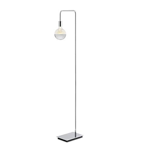 Pharmacy Polished Nickel Lamp - Modern Chrome Floor Lamp, Contemporary Style Reading Light, Plugin, in-line Dimmer Included, ETL Listed, Hoyt Design by Brooklyn Bulb Co. (Renewed)