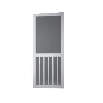 Screen Tight 5BAR32 Solid Vinyl Screen Door, White, 32 Inch By 80