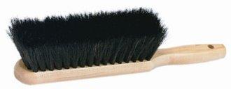 12 Pack Harper Brush 453 14'' Wood Counter and Bench Duster Brush - Black Natural Horsehair