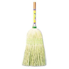 Parlor Broom, Corn Fiber Bristles, 42'' Wood Handle, Natural, 12/Carton, Sold as 1 Carton, 12 Each per Carton by Boardwalk