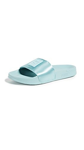 PUMA Women's Leadcat Satin Slides, Aquifer/Aquifer, 8.5 B(M) US